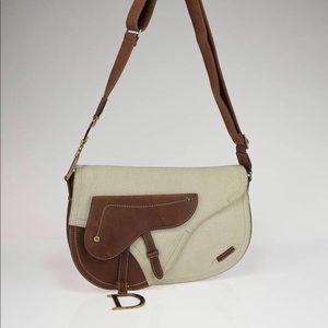 Dior Vintage Crossbody  Saddle Bag authentic!🌺